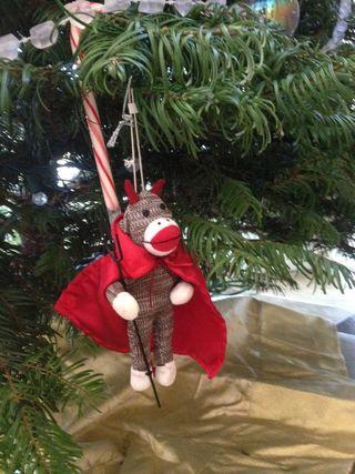 Sock-monkey-ornament