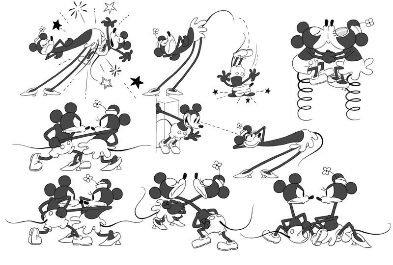 Mickey and minnie model sheet revised 7-25-12